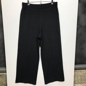 St. John Caviar 12 Santana Knit Black Pants